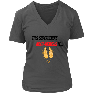 Arch-Nemesis - Wheat Version - Women's V-Neck