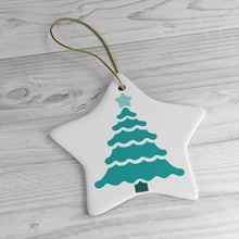 Load image into Gallery viewer, Teal Tree - Ceramic Ornaments