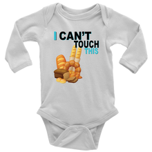 Load image into Gallery viewer, I Can't Touch This - Wheat Version - Long Sleeve Baby Bodysuit