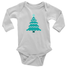 Load image into Gallery viewer, Teal Tree - Long Sleeve Baby Bodysuit