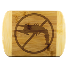Load image into Gallery viewer, No Shellfish - Wooden Cutting Board
