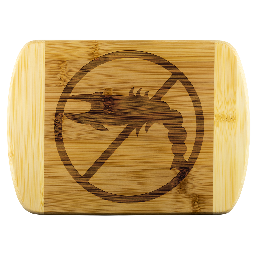 No Shellfish - Wooden Cutting Board