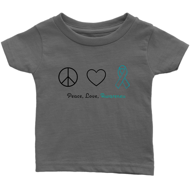 Peace, Love, Awareness - Teal Version - Infant T-Shirt