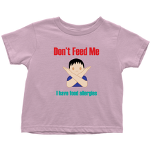 Load image into Gallery viewer, Don't Feed Me! Boy Version - Toddler T-shirt