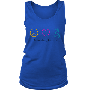 Peace, Love, Awareness- Women's Tank
