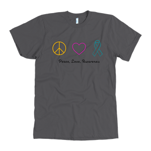 Peace, Love, Awareness- Men's Shirt
