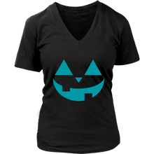 Load image into Gallery viewer, Teal Pumpkin- Women's V-Neck