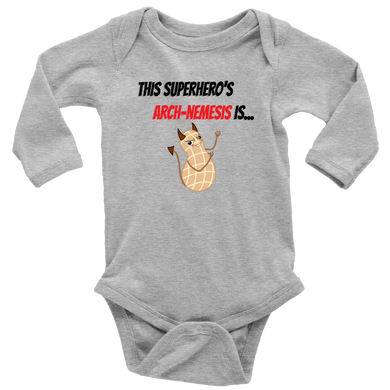 Arch-Nemesis - Peanut Version - Long Sleeve Baby Bodysuit