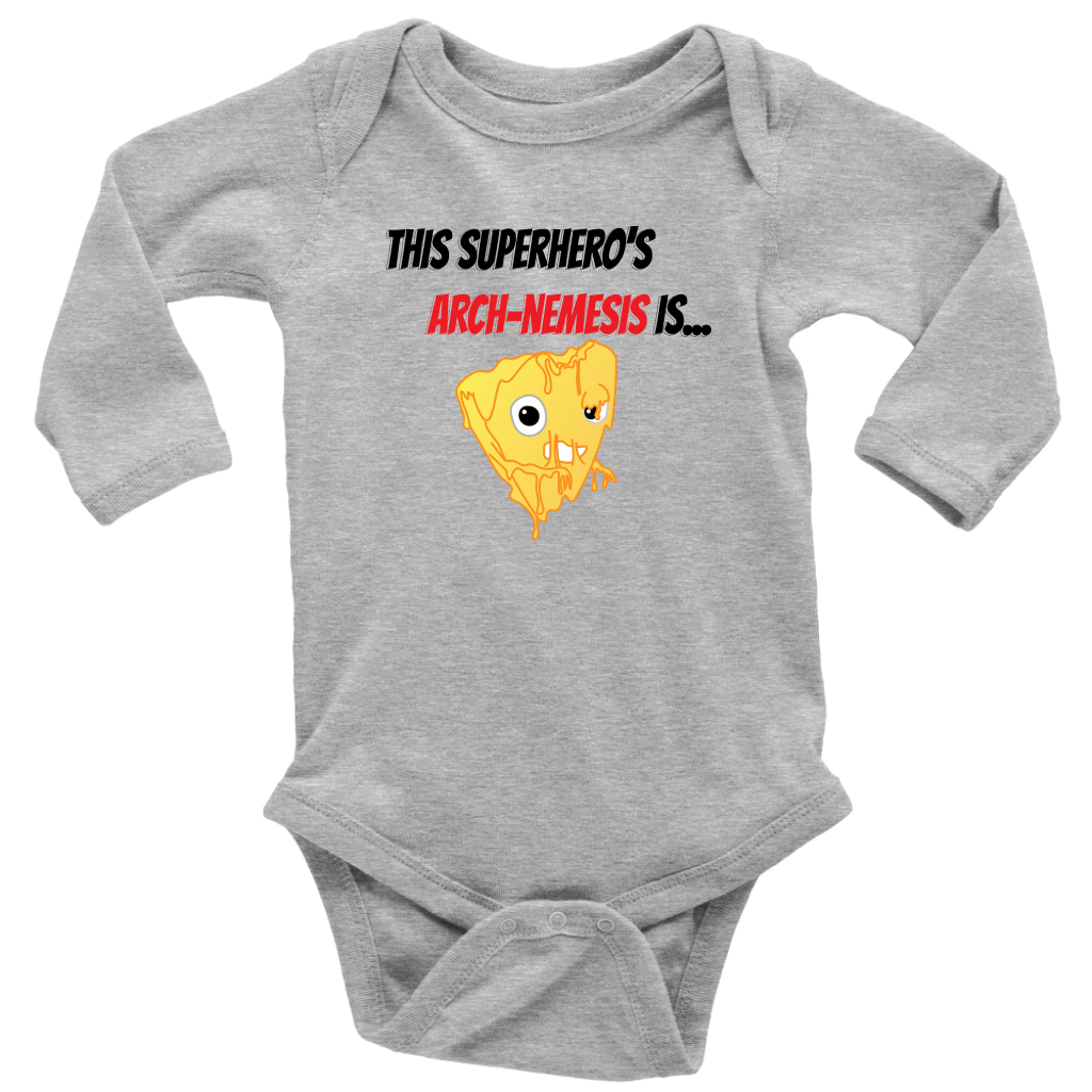 Arch-Nemesis - Milk Version - Long Sleeve Baby Bodysuit