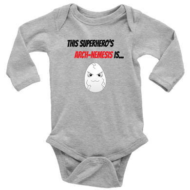 Arch-Nemesis - Egg Version - Long Sleeve Baby Bodysuit