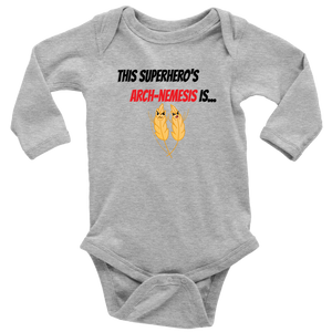 Arch-Nemesis - Wheat Version - Long Sleeve Baby Bodysuit