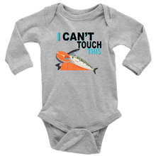 Load image into Gallery viewer, I Can't Touch This - Fish Version - Long Sleeve Baby Bodysuit