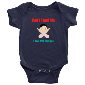 Don't Feed Me! Boy Version - Baby Bodysuit