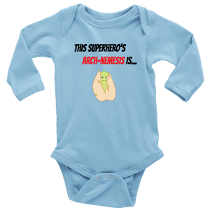 Arch-Nemesis - Treenut Version - Long Sleeve Baby Bodysuit