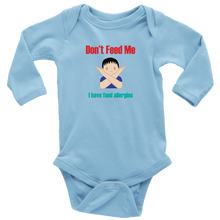 Load image into Gallery viewer, Don't Feed Me! Boy Version - Long Sleeve Baby Bodysuit