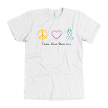 Load image into Gallery viewer, Peace, Love, Awareness- Men's Shirt