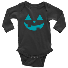 Load image into Gallery viewer, Teal Pumpkin- Long Sleeve Baby Bodysuit