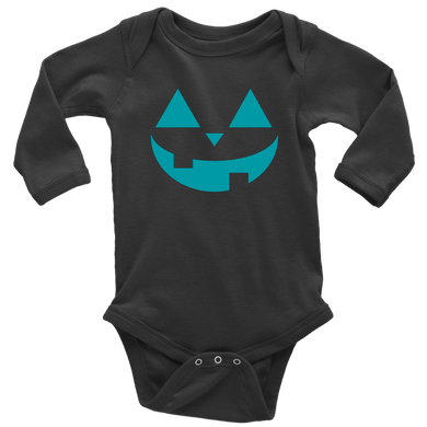 Teal Pumpkin- Long Sleeve Baby Bodysuit