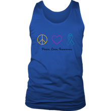 Load image into Gallery viewer, Peace, Love, Awareness- Men's Tank