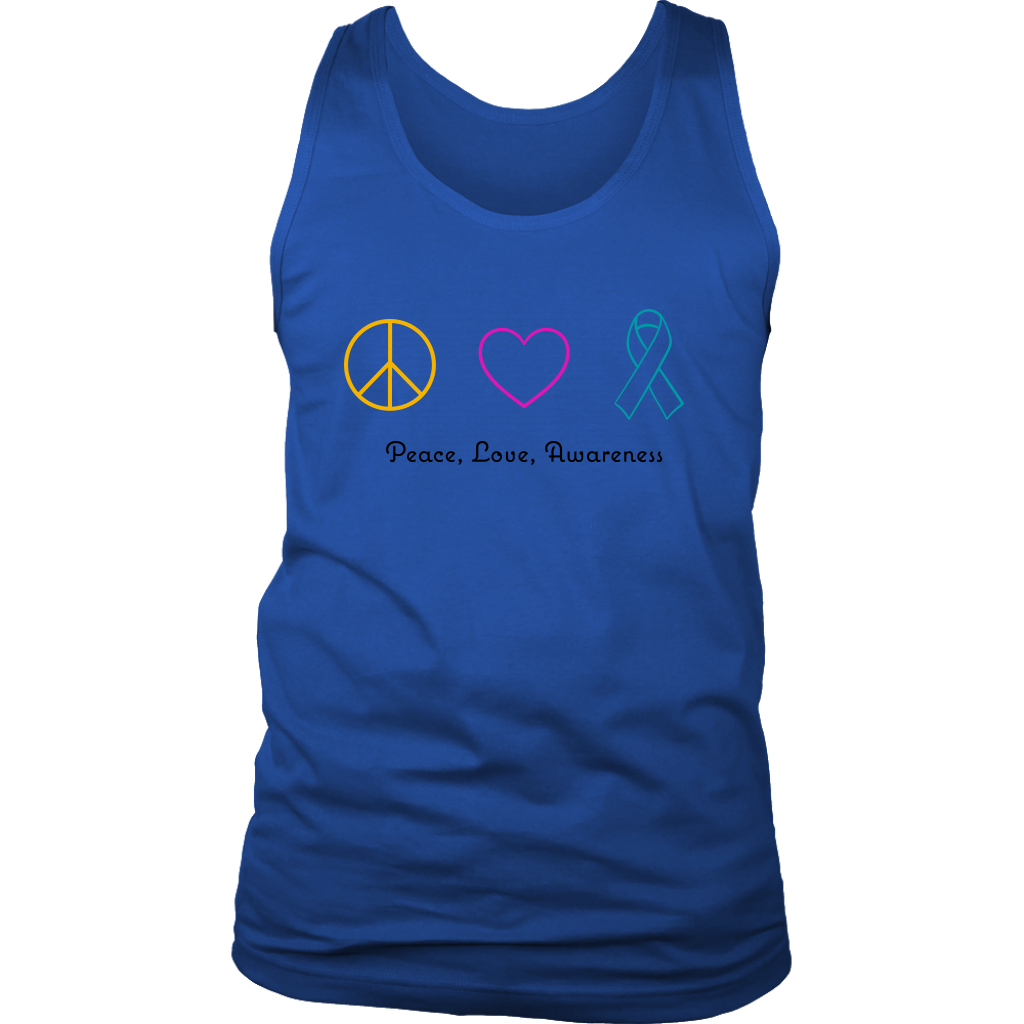 Peace, Love, Awareness- Men's Tank
