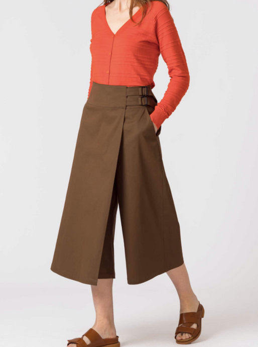 Culottes in desert brown