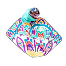 Load image into Gallery viewer, Flow Aqua Lotus Yoga Towel