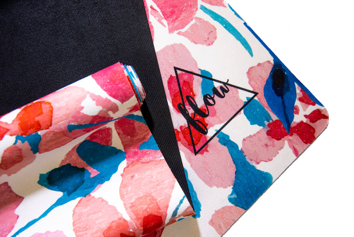 Flow Travel Suede Floral Yoga Mat