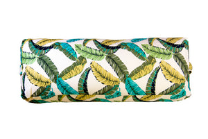 Flow Feathery Leaves Yoga Bolster Cover