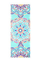 Load image into Gallery viewer, Flow Travel Suede Aqua Lotus Yoga Mat
