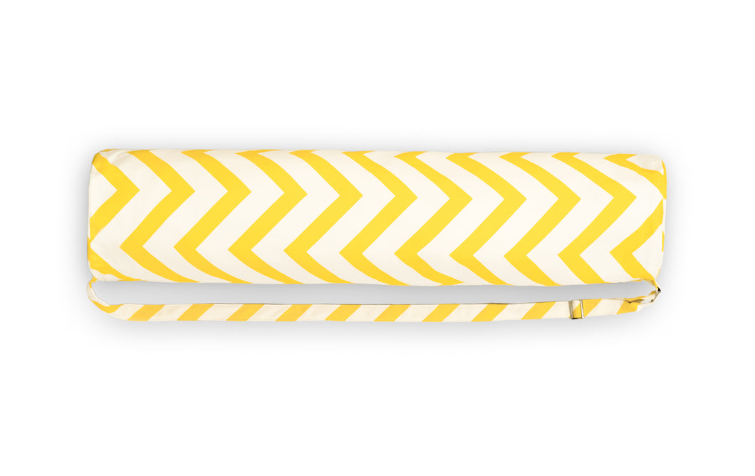 Flow Yellow Zig Zag Canvas Yoga Bag