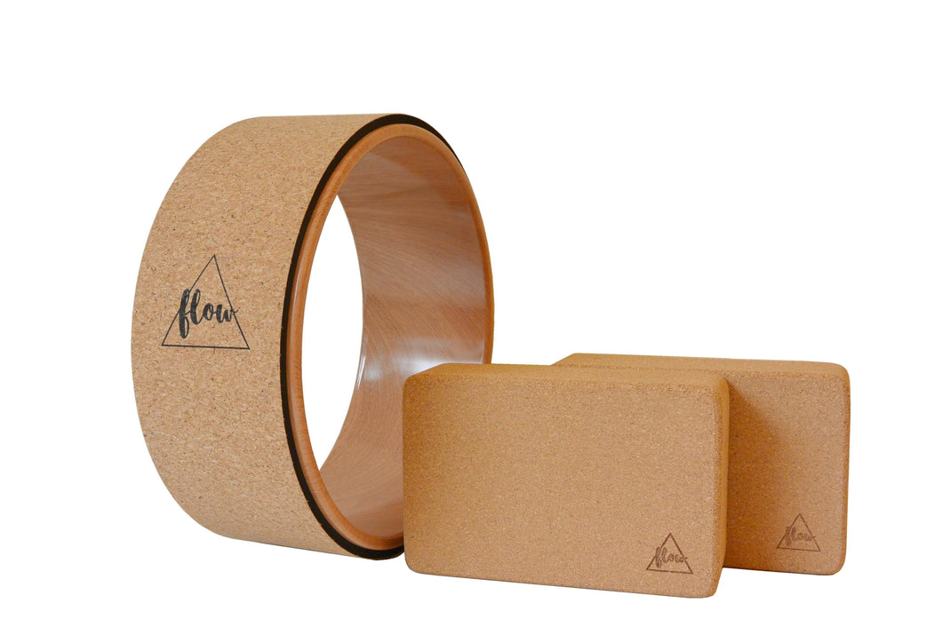 Flow Cork Accessories Yoga Set