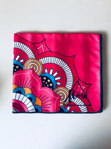 Flow Pink Om Yoga Towel