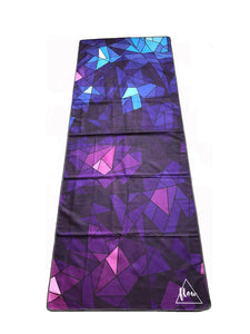 Flow Purple Geometric Yoga Towel