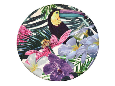 Flow Tropical Round Mat