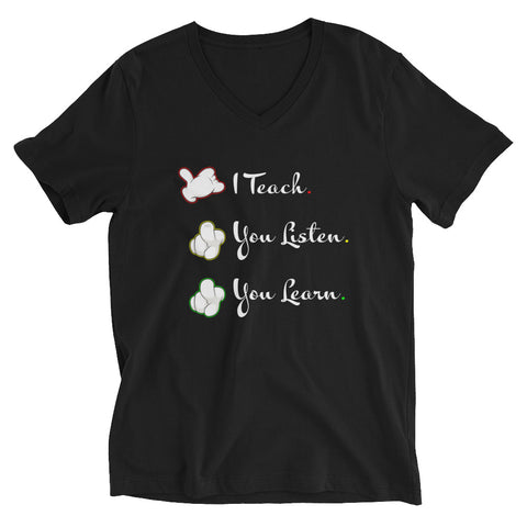 I Teach V-Neck T-Shirt - For Grown Folks Only Merch