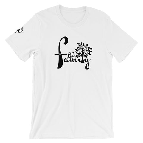 Family Life (White) Graphic T-Shirt - For Grown Folks Only Merch