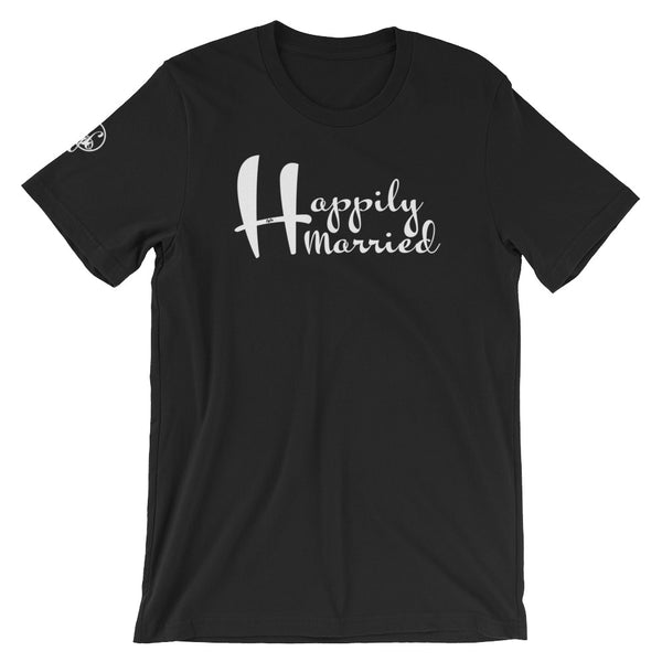 Happily Married (Black) Graphic T-Shirt