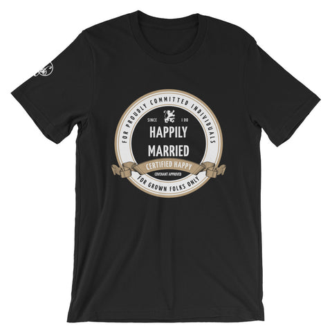 Certified Married (Black) Graphic T-Shirt - For Grown Folks Only Merch