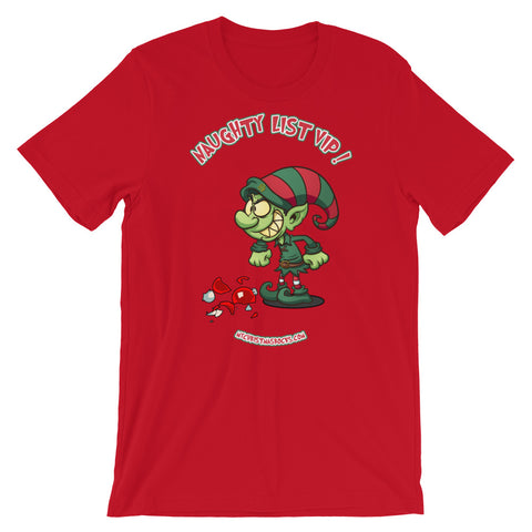 Naughty List VIP Christmas T-Shirt - For Grown Folks Only Merch