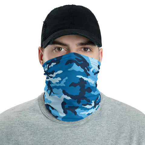 Blue Camo Neck Gaiter - For Grown Folks Only Merch
