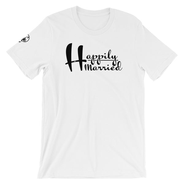 Happily Married (White) Graphic T-Shirt - For Grown Folks Only Merch