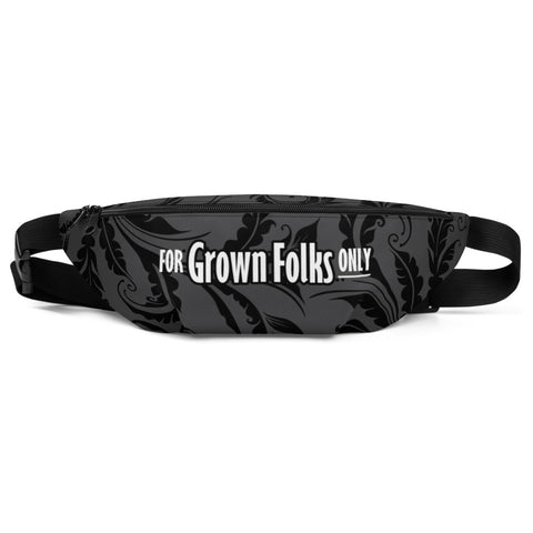 Black Masquerade Fanny Pack - For Grown Folks Only Merch