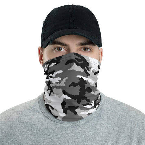 Gray Camo Neck Gaiter - For Grown Folks Only Merch