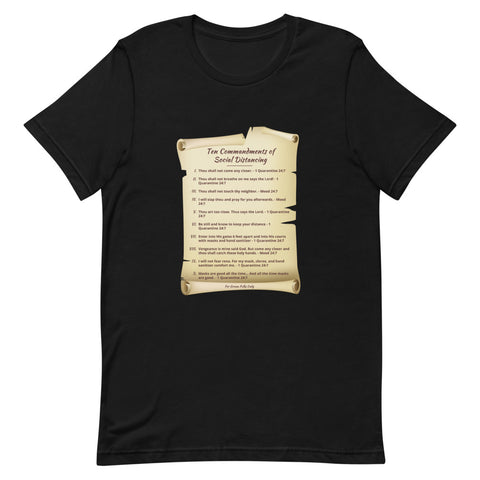 Ten Commandments of Social Distancing Shirt - For Grown Folks Only Merch