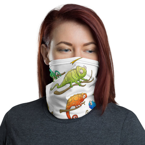 Colorful Chameleons Neck Gaiter - For Grown Folks Only Merch
