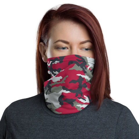 Red Camo Neck Gaiter - For Grown Folks Only Merch