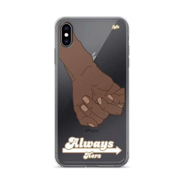 Brown Skin Couple Always Hers: iPhone 6 - XS Max Nude Case