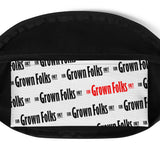 For Grown Folks Only (White) Fanny Pack - For Grown Folks Only Merch