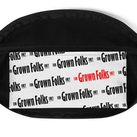 For Grown Folks Only (White) Fanny Pack