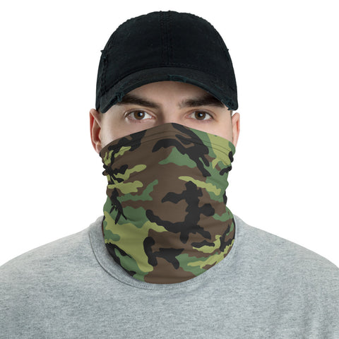 Green Camo Neck Gaiter - For Grown Folks Only Merch